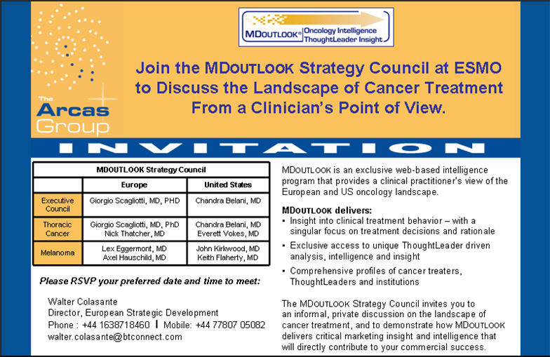 MDoutlook ESMO 2008 Invitation